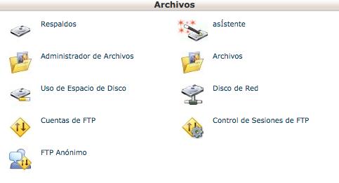 Sección archivos
